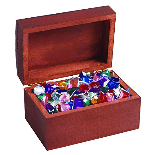 Colorations Wooden Treasure Boxes Set of 12 Craft Activity for Kids (3 7/8