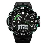 SKMEI Men's Dual Time Display Outdoor Sports Digital Watch - Green