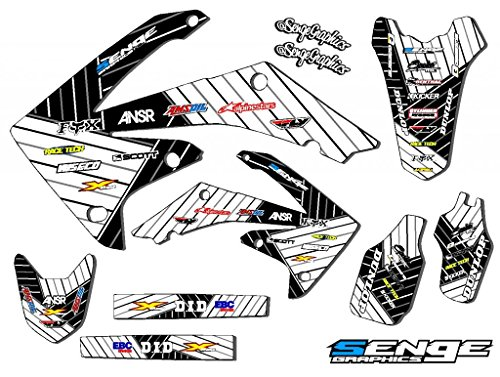Senge Graphics Kit Compatible with Honda 2004-2010 CRF 80/100 Race Series White Graphics kit ()