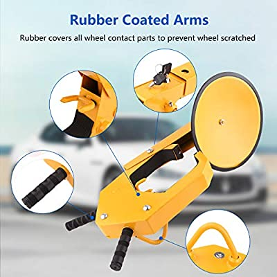 Homdox Wheel Lock Car Tire Boot Lock Heavy Duty Anti-Theft Wheel Clamp Lock for Auto Car Truck SUV ATV RV: Automotive