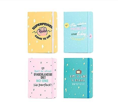 HURDSK Cuaderno4PCS A7 Design Designer Mini Small Pocket ...