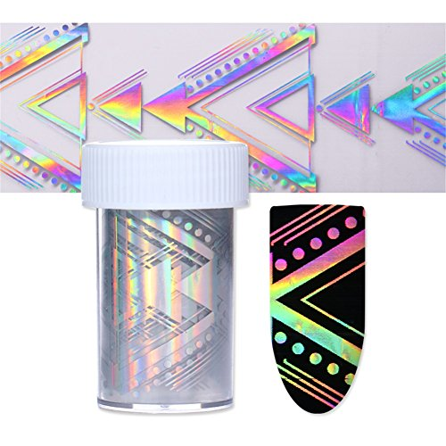 BORN PRETTY 1 Roll Nail Art Holographic Foil Laser Sticker Geometric Triangle Manicure Starry Sky Transfer Decals #4