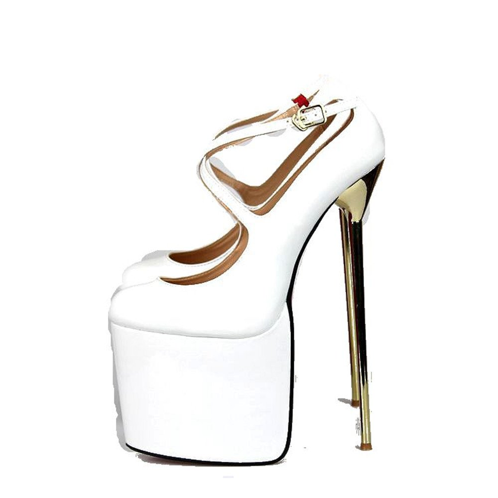 EUR40-50 no branded Women Super-High Heel 22cm Pump Platform Shoes Boots Sandals,US9.5-18 A-40