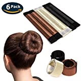 Eliace 6 PCS French Bun Tail Hair Buns Maker Magic DIY Hair Bun Making Styling French Twist Donut Bun Hairstyle Tool For Women Girls 3 Color