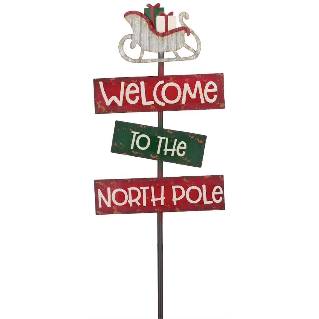Regal Art /& Gift 11987 Holiday North Pole Garden Stake Multi