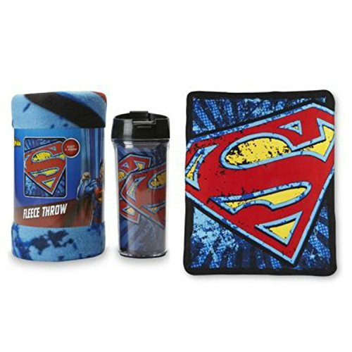 Superman Fleece - Superman Fleece Throw and Travel Mug Set