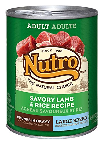 NUTRO Large Breed Adult Lamb and Rice Canned Dog Food, 12.5 oz. (Pack of 12) (Breed Adult Lamb)