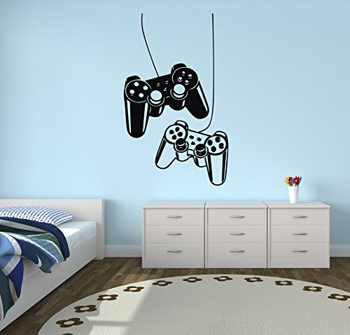 Playstation Controllers Gaming Joystick Wall Decal Home Decor Art Vinyl Sticker