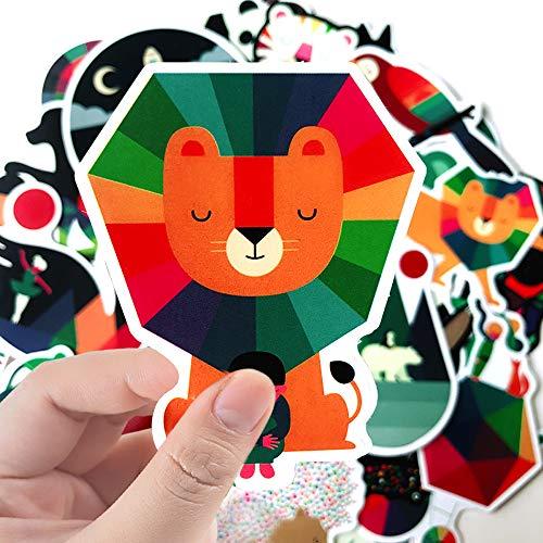 100PCS Cartoon Animal Decal Stickers Cute Waterproof Kids Stickers for Water Bottles, Laptop, Skateboard, Bicycle, Luggage