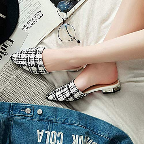 T-JULY 2018 Fashion Fashion Flat Sandals Pointed & Closed Toe Mules Home Slippers Slides Slip On Lazy Dress Shoes by T-JULY (Image #4)