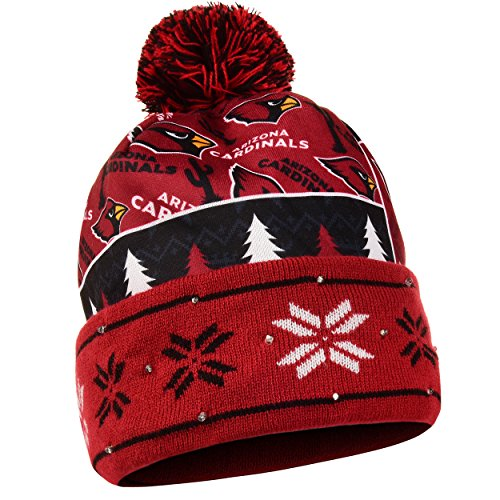 Arizona Cardinals Exclusive Busy Block Printed Light Up Beanie