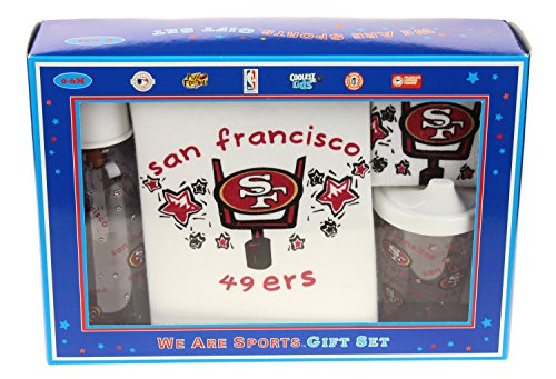 San Francisco 49ers NFL Baby Boys Newborn 4 Piece Boxed Gift Set 0-6 Months