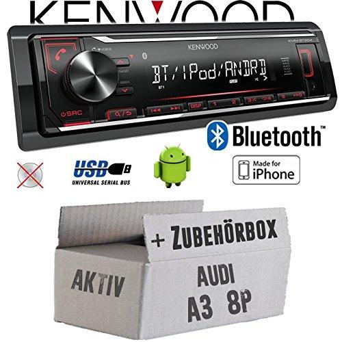 Audi A3 8P AKTIV - Autoradio Radio Kenwood KMM-BT204 - Bluetooth | MP3 | USB | iPhone - Android - Einbauzubehö r - Einbauset JUST SOUND best choice for caraudio AuA38P1DA_KMM-BT204