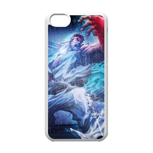 Street Fighter X Tekken 14 coque iPhone 5c cellulaire cas coque de téléphone cas blanche couverture de téléphone portable EEECBCAAN03469