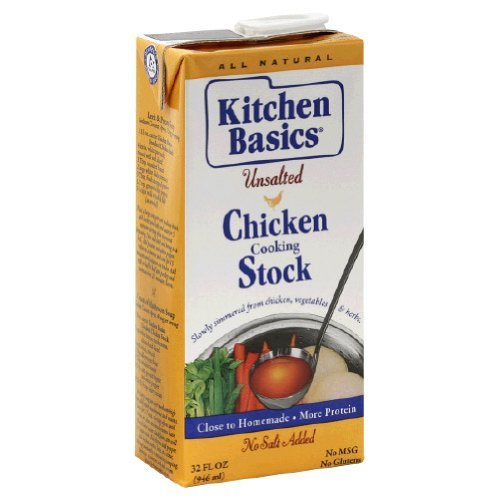 Kitchen Basics Unsalted Chicken Stock, 32-Ounce (Pack of ()