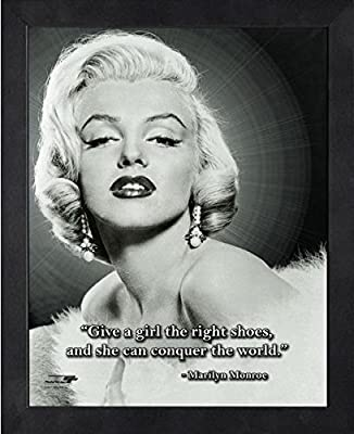 Marilyn Monroe Pro Quotes Photo Size 9 X 11 Framed