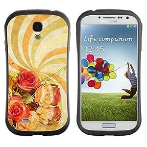 LASTONE PHONE CASE / Suave Silicona Caso Carcasa de Caucho Funda para Samsung Galaxy S4 I9500 / Wallpaper Spiral Hypnotic Psychedelic Art Flowers