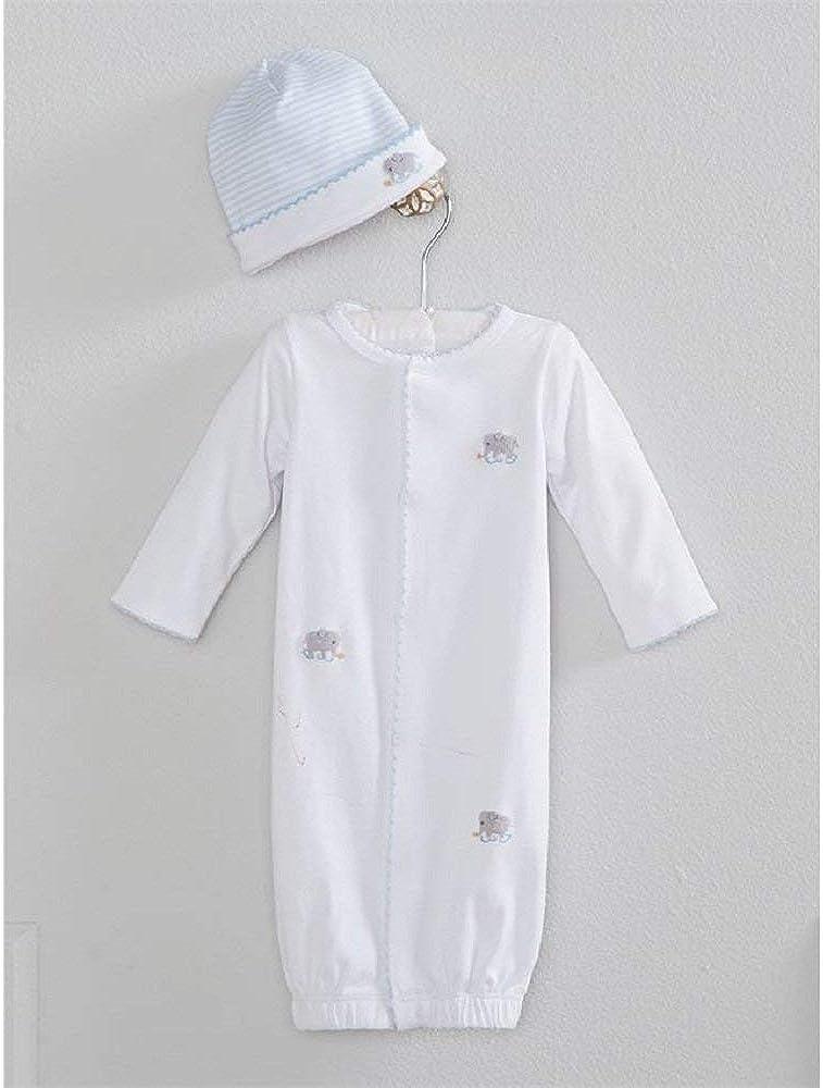 Mud Pie Baby Girls Infant Elephant French Knot Sleepwear Gown