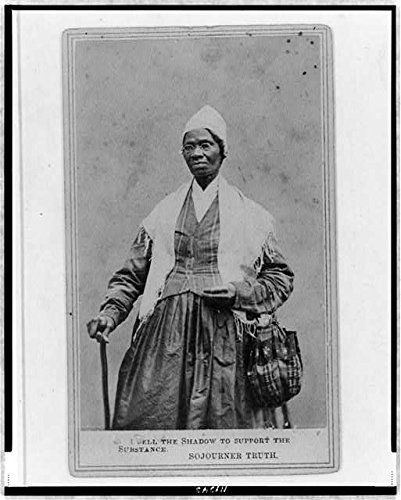 Photo: Sojourner Truth,spectacles,shawl,peaked cap,1864,Abolitionist,Isabella - Cap Isabella