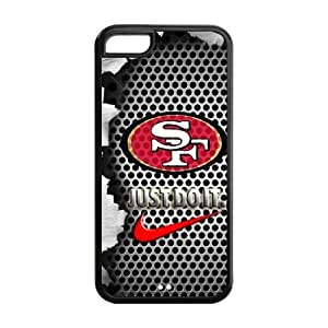 NFL San Francisco 49ers Logo Iphone 5C Case Nike Logo Case Cover-black&white by ruishername