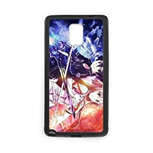 samsung galaxy note4 case,samsung galaxy note4 Cell phone case Black Sword Art Online SAO Kirito & Asuna-PUU4850980