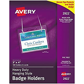 amazon com avery name badge inserts print or write 3 x 4 300