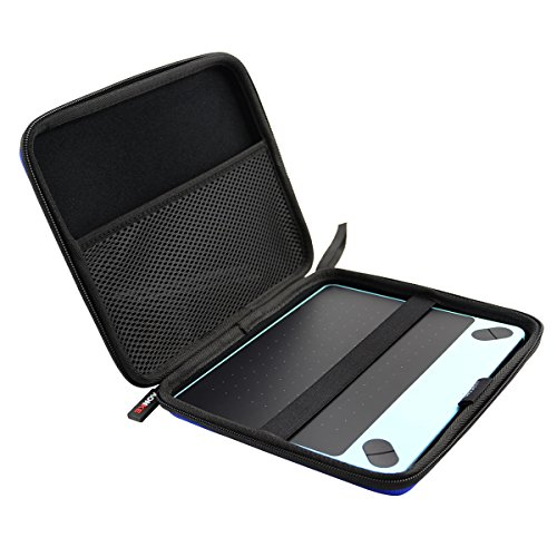 AONKE Hard Travel Case Bag for Intuos Draw CTL490DB CTL490DW CTL4100 CTL4100WLK0 Art/Photo/Comic Small by (Blue)