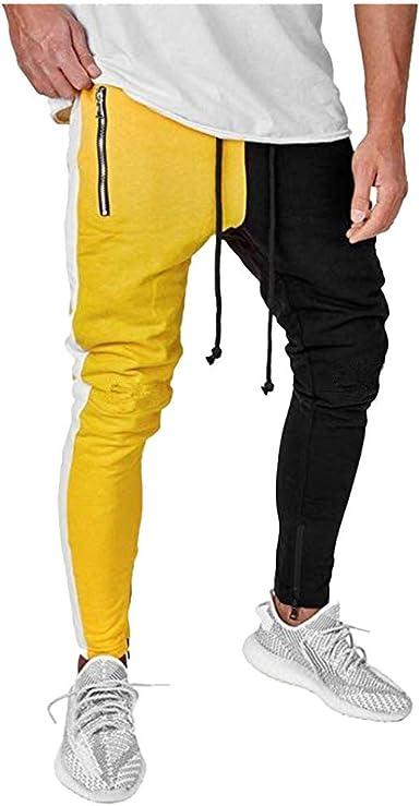 MrTom Pantalon Chino Hombre Largos Algodón Pantalones Deportivos Pitillo Pantalón de Chandal Jogger Trekking Casual Deporte Cargo Elástico Slim Fit XT082: Amazon.es: Ropa y accesorios