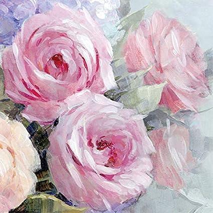 pink design Vintage,shabby chic -278 4 Single paper decoupage napkins roses