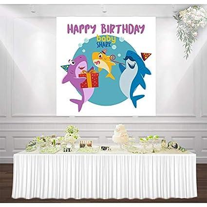 Póster de cumpleaños con diseño de tiburón: Amazon.es ...