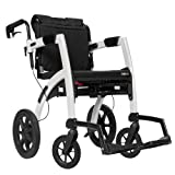 Rollz Motion 2-n-1 Rollator Transport Chair (Pebble White)