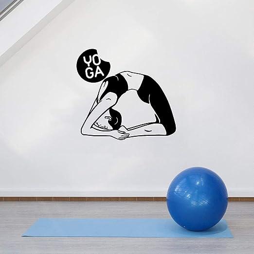 yaoxingfu Etiqueta de la Pared Pose de Yoga Arte Vinilo ...