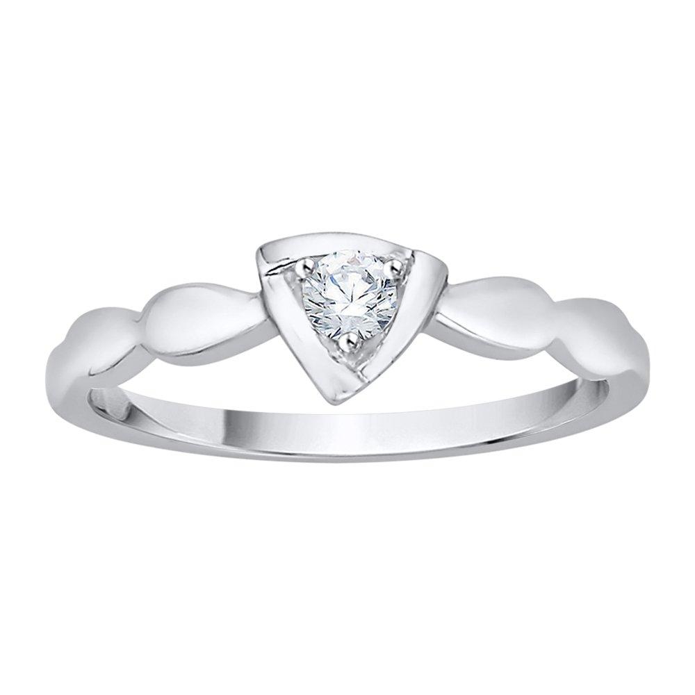 1//10 cttw, Diamond Wedding Band in 10K White Gold G-H,I2-I3 Size-8
