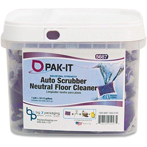 - Pak-It - Auto-Scrubber Neutral Floor Cleaner Citrus Scent 50/Tub