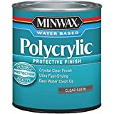Minwax 63333444 Polycrylic Protective Finish Water Based,1 quart, Satin