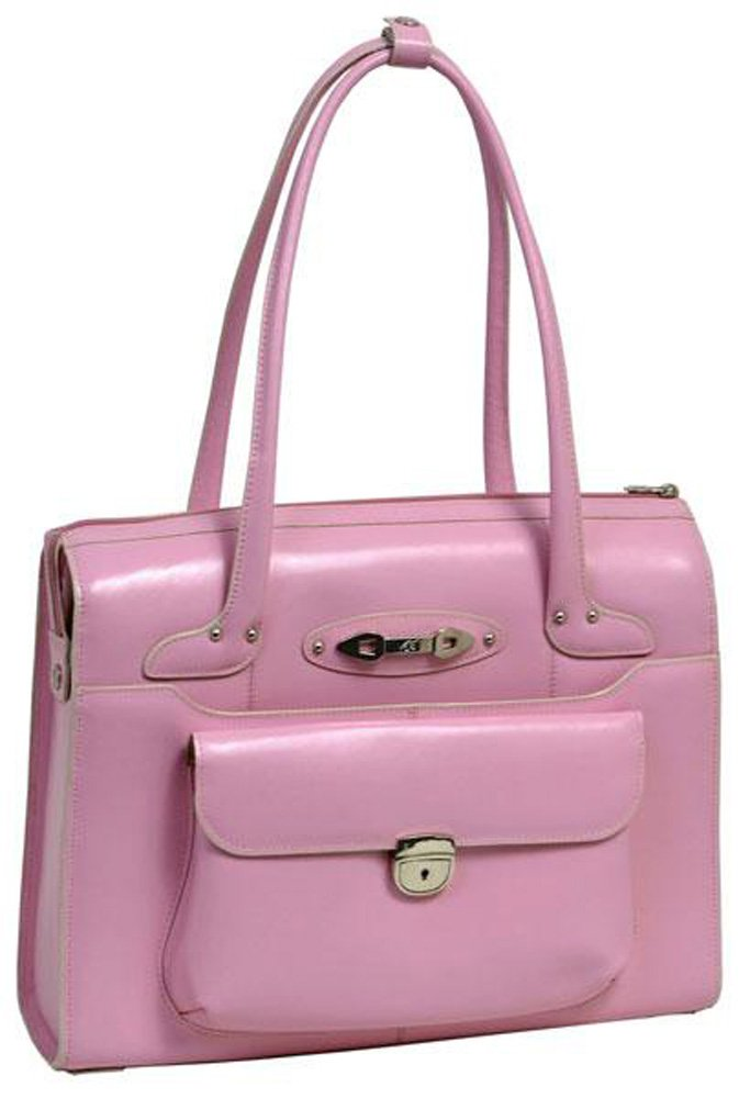McKleinUSA WENONAH 96669 Pink Leather Ladies' Briefcase