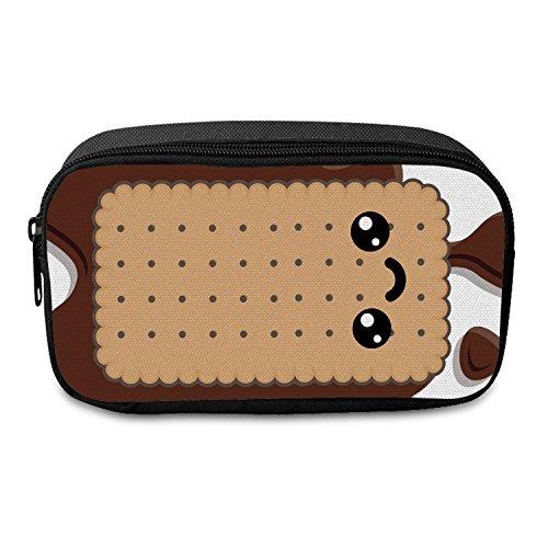 Fringoo® großes Federmäppchen für Jungen und Mädchen aus Segeltuch mit Reißverschluss für die Schule oder als Schmink-Etui L Holo Unicorn Multi - Front Biscuit Face U5gh6SK