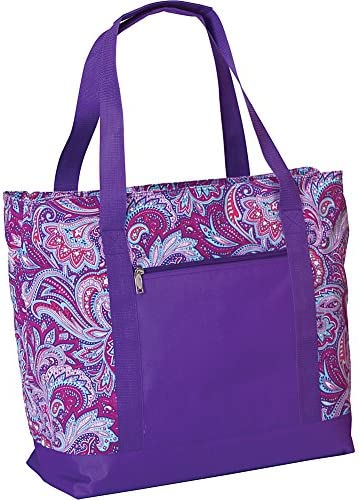 Picnic Plus Extra Large 2 in 1 Insulated Cooler Bag with Thermal Foil Section and Water Resistant Section, Perfect for Beach, Pool, Lake, Boating and Shopping, Lido Purple Envy