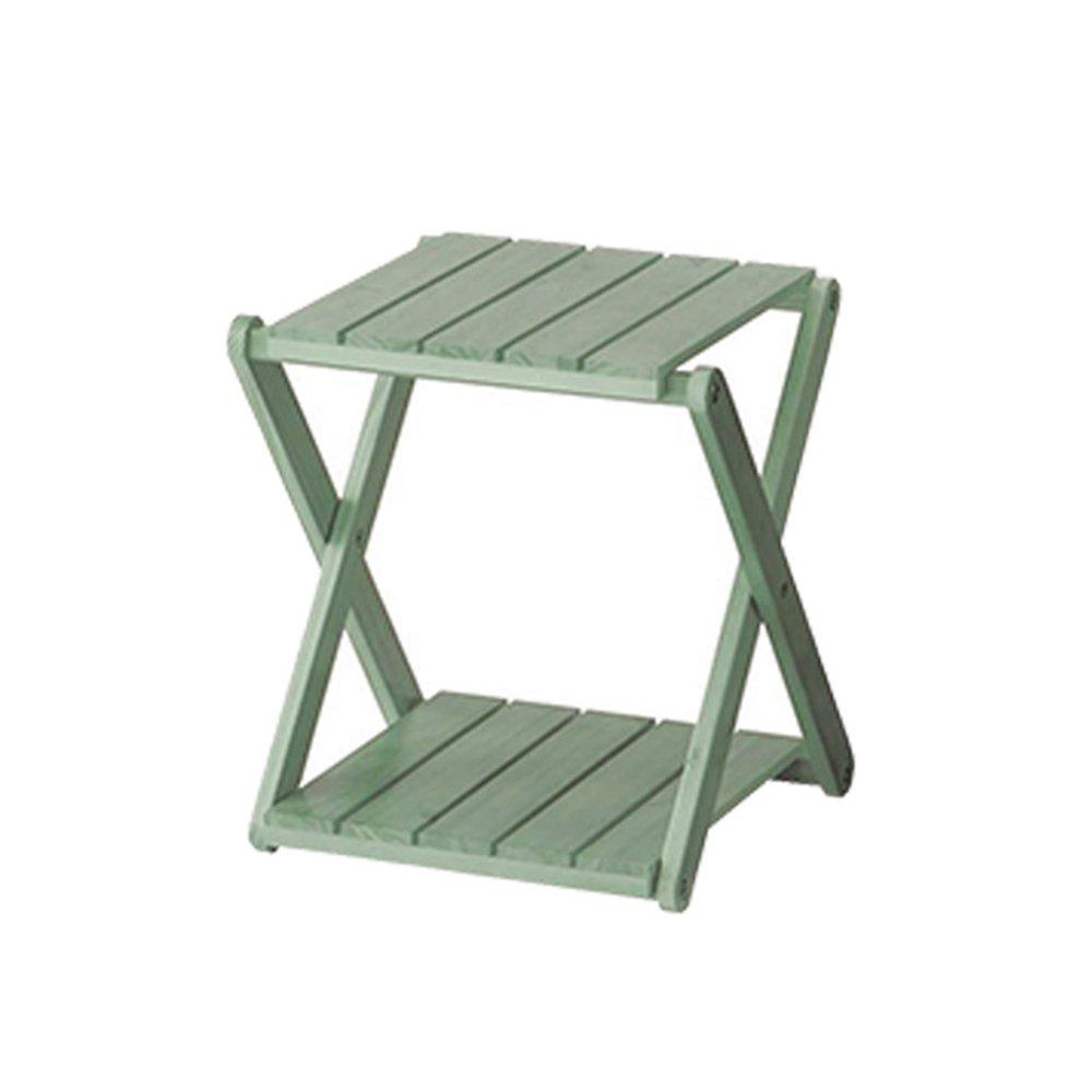 YANFEI 靴ラックマルチレイヤーシンプルシューキャビネット竹製防塵強化現代シンプルな折り畳み式靴スタンド (色 : Green) B07FBH53V5 Green Green
