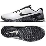 Nike Men's Metcon 4 Ankle-High Cross Trainer Shoe (12 M US, White/Sail/Black)