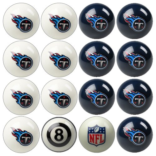 Pool Tennessee - Imperial Officially Licensed NFL Merchandise: Home vs. Away Billiard/Pool Balls, Complete 16 Ball Set, Tennessee Titans