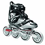 Roces 400721 Men's Model Lab Fitness Inline Skate, US 9, Black/Silver