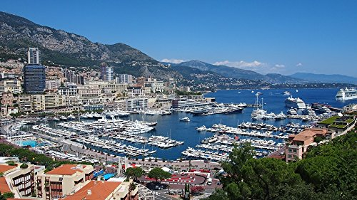 Home Comforts Canvas Print Cote D'azur Bay France Monaco French Riviera Stretched Canvas 32 x 24