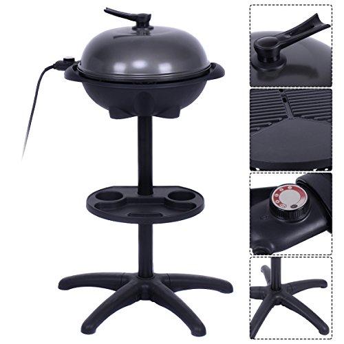 COSTWAY 1350W Indoor/Outdoor Electric BBQ Grill, Black