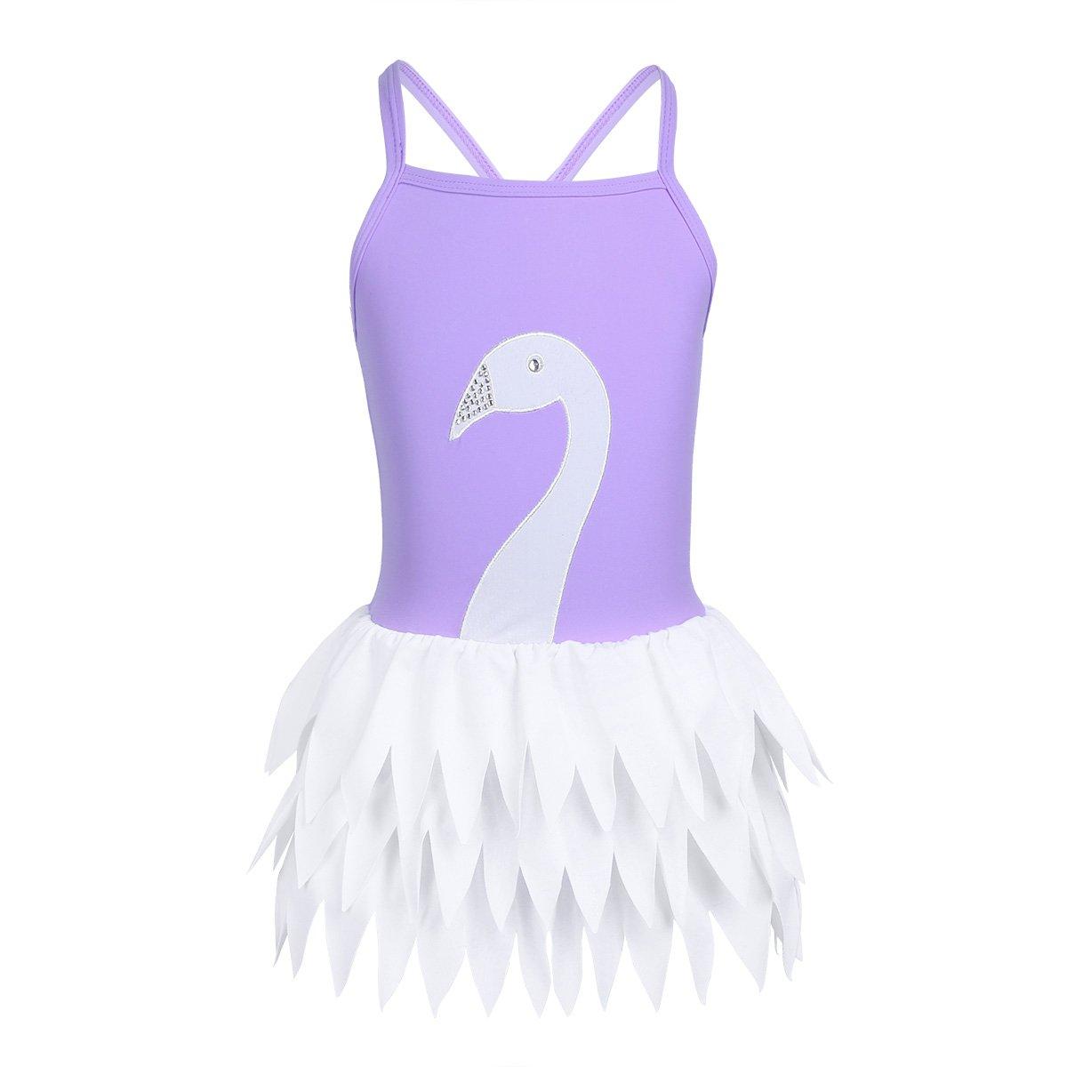 iixpin Mädchen Badebekleidung Badeanzug Schwanz One Piece Prinzessin Kleid Tankini Bikini Bademode mit Baderock Gr. 98-152