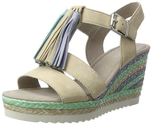 Cuña Beige Fashion oriental Para Shoes Sandalias sesamo Mujer 13 Con Gabor wCqIZP5x