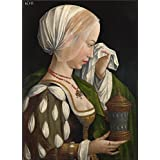 high quality polyster Canvas ,the High Resolution Art Decorative Prints on Canvas of oil painting 'Workshop of Master of the Magdalen Legend The Magdalen Weeping ', 18 x 25 inch / 46 x 63 cm is best for Nursery artwork and Home decoration and Gifts