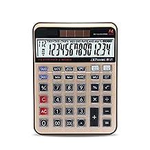 Desktop Large Display 14 -Digit Calculator Office Business Electronic Professional Calculator Dual Power