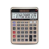 Calculator Desktop Large Display 14 -Digit Office Business Electronic Professional Dual Power