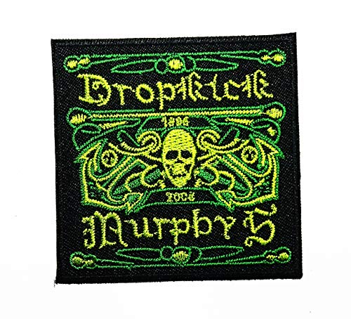 Skull American Celtic Punk Band Street Punk Hardcore Punk American Celtic Punk Band Street Punk Hardcore Punk Music Band Logo Patch Applique for Clothes Great as Happy Birthday -